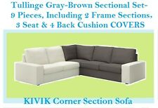 "IKEA Kivik Sectional""Corner Sofa Section""NEW COVER Tullinge Gray Brown Sealed"