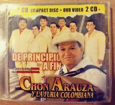 CHON ARAUZA Y LA FURIA COLOMBIANA - DE PRINCIPIO A FIN (2004 BRAND NEW CD+DVD)