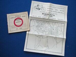 Thomas's Street Map & Street Index - Walsall & Bloxwich    c1954