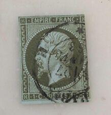 France n°11 Napoléon III 1c Olive oblitéré 1860