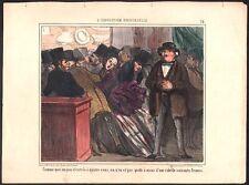 Honoré Daumier. L'Exposition Universelle. Planche n°14. Epreuve sur blanc. 1855
