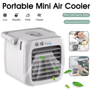 1pc Mini USB Air Conditioner Outlet Desktop Air Cooling Fan for Home Office Car