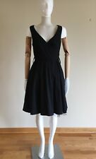 Rinascimento Made In italy Cotton Black Dress With Skirt Tulle Size Small