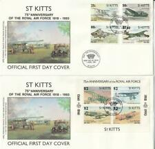 St. Kitts 1993 FDC Minr. 343-346 Blocco 11 75 Anni Royal Airforce Elicottero