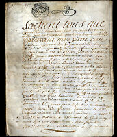 "LORQUIN (57) TANNEUR MARCHAND bourgeois ""Benoist CLEFF"" Contrat Mariage en 1774"