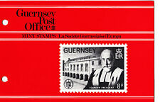 GUERNSEY PRESENTATION PACK 1982 EUROPA CEPT LA SOCIETE STAMP SET
