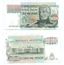 ARGENTINA NOTE 100000 PESOS (1979) LOPEZ-DIZ SERIAL A B# 2502 P 308a UNC
