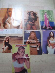 7 fantastic JENNIFER LOPEZ magazine poster centerfold