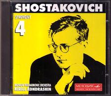 Kirill KONDRASHIN: SHOSTAKOVICH Symphony No.4 Op.43 Schostakowitsch Sinfonien CD