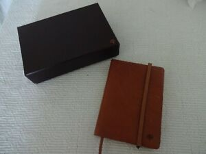 MULBERRY Tan Leather Notebook BOXED (Elastic old & loose)