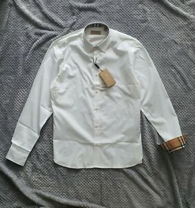 Genuine Brand NEW BURBERRY Men's long sleeve shirt White colour with tags