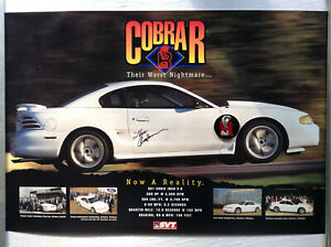 1995 Cobra R Poster, Very Rare with Medallion and Signature by Steve Anderson