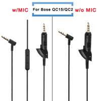 Replacement Audio Cable Wire Cord w/ Mic For QC15/QC2/QC3/OE2/AE2 Headphone
