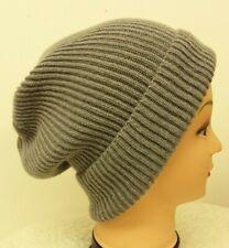 Made in Scotland Beautiful      Cashmere      Beanie   Hat      Grey