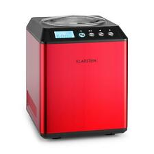 Klarstein Macchina Gelato Gelatiera Compressore Professionale 180W Frutta Rossa