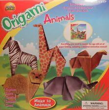 Origami Wild Safari Animals Leopard Camel Zebra Giraffe Paper Arts Crafts Bx
