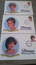 NEVIS 1997. 9 x FIRST DAY COVER'S DIANA PRINCESS OF WALES.