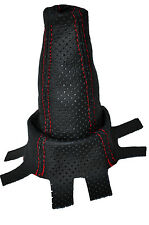 RED STITCH FITS HONDA CIVIC 2006-2013  SHIFT BOOT PERFORATED REAL  LEATHER