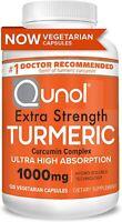Turmeric Curcumin 1000 mg Qunol Ultra High Absorption Max Strength 120 Capsules
