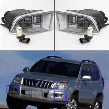 Pair LED Front Bumper Fog Light For Toyota Land Cruiser Prado FJ 120 2002-2009