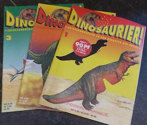 De Agostini Dinosaurier Sammelhefte 1-3