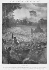 Benin Expedition il Golgota in Benin-antica stampa 1897