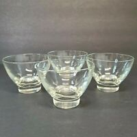 "Lot of 4 Vintage Clear Glass Dessert Dishes Approximately 2 3/4"" Tall"