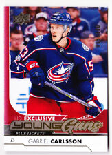 17-18 Upper Deck Gabriel Carlsson /100 UD Exclusives Young Guns Rookie 2017