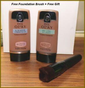 Olay Shine Control or All Day Moisture Foundation #86 Deep Beige #92 Dk Honey