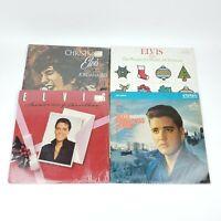 Elvis Presley Christmas Records Album Lot Of 4