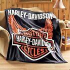 Harley Davidson Motorcycle Fleece Throw Blanket Standard. Great GIFT