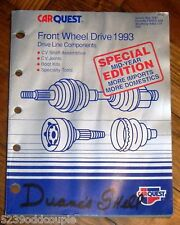1993 Carquest Front Wheel Drive Parts Catalog May 1993 146 pages #120