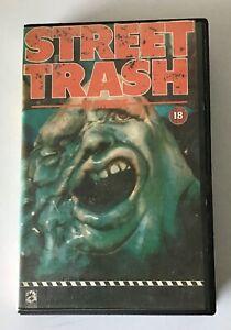 STREET TRASH Ex Rental VHS Tape - Horror - Avatar Communications