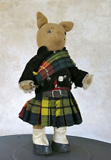 SCOTLAND MASTER RABBIT,ancien ours en habit écossais, scotland bear,JOUET ANCIEN