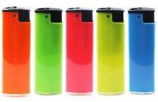 Slimline Fluoro Windproof Refillable Lighter Cigarette - Bulk 5 Pack