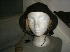 WW2 RAF FAA C type pilot flying helmet fully wired ear cups and speakers