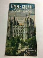Vintage 1950s Temple Square Salt Lake City Sight Seeing Brochure Travel Guide