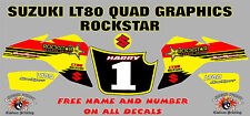 suzuki lt80 quad graphics stickers decals name & number lt80 laminate half rock