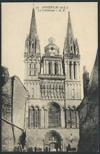 Angers Cathédrale France 1909 B&W Collotype PC Divided Back by Papeghin UNUSED