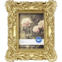 Set of 3 Baroque Picture Frames Gold Frame Photo Vintage Antique 5x7 Size Decor