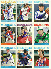 2013 Topps Heritage TYLER NAQUIN Signed Card INDIANS auto rc SPRING, TX top pros