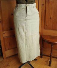 Gap Khaki Cotton Long Modest Skirt Size 10 Tan Beige
