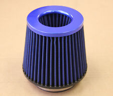 4' BLUE INLET HIGH FLOW SHORT RAM/COLD INTAKE ROUND CONE MESH AIR FILTER 4 INCH