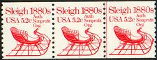 PNC #1900 #1 MNH 5.2c SLEIGH Strip of 3