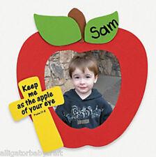 Apple Christian Magnet Photo Frame Craft Kit Kids Personalizable No Glue ABCraft