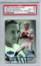 1998 Flair Showcase PEYTON MANNING LEGACY COLLECTION #/100 PSA 8 NM-Mint RC Vols