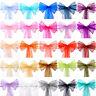 25/50/100 Organza Sash Chair Cover BOW Tie Ribbon Wedding Party Banquet Decor