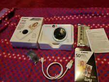 Canon IVY CLIQ + Plus Instant Camera Printer (Pearl White) PP2001 NIB XTRA 50 SH