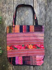 Hmong Ethnic hippy hippie boho patchwork bag large tote oversized unusual