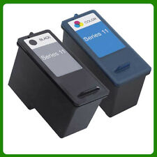 2 Non-OEM Replace For Dell V505 KX701 Ink Cartridges 11 Series BK+Color
